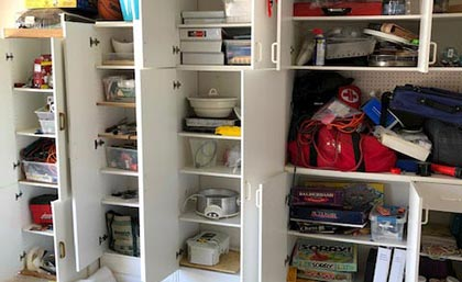 garage cabinets : before & afters