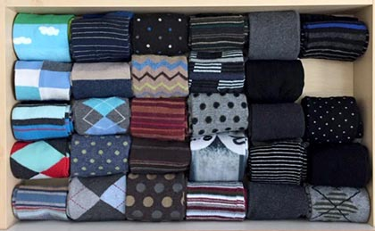 sock drawer : straight up organizing
