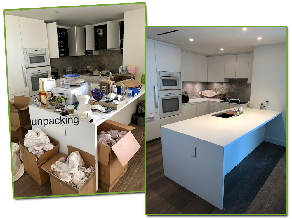 organizing a kitchen : before & after