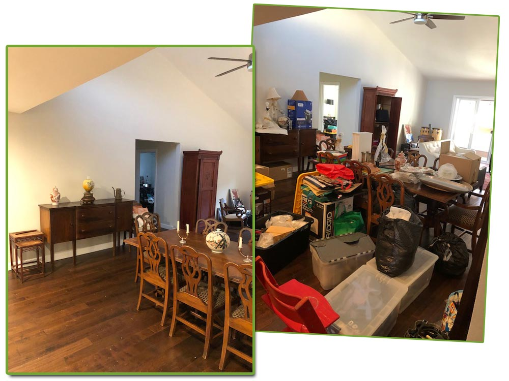 dining room : before & afters